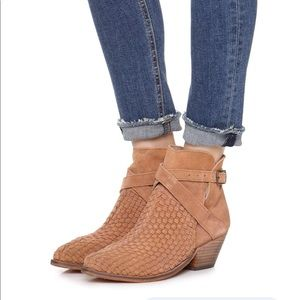 Free People Venture Ankle Boot Distressed Suede